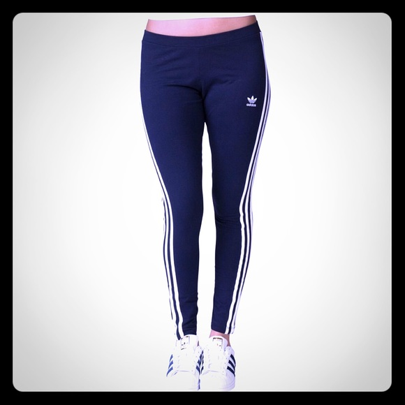 5e23976db adidas Pants | Womens Dark Navy Blue Skinny Leggings | Poshmark